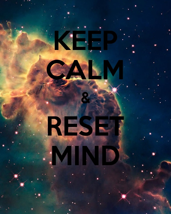 Galaxy Background  Keep calm and reset mind