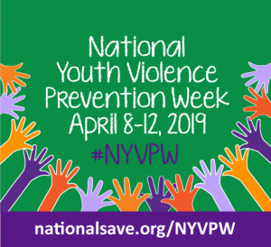 Graphic for National Youth Violence Prevention Week