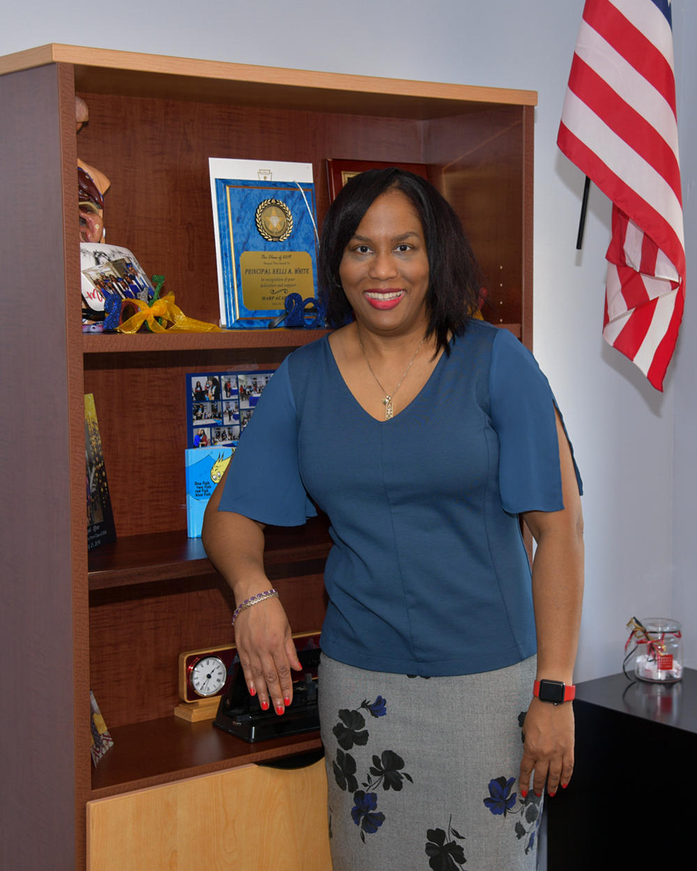 Principal White in her office